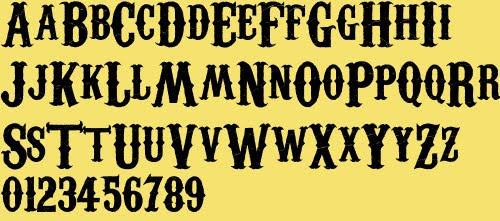 found a new font I like called CarnivaleE Freakshow - good for ...