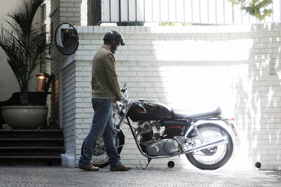 Keanu Reeves and his Norton Command