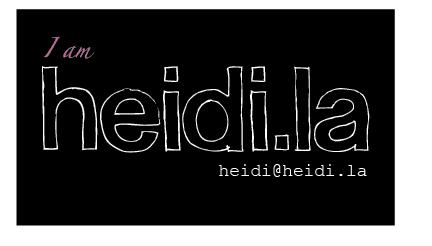 heidski blog