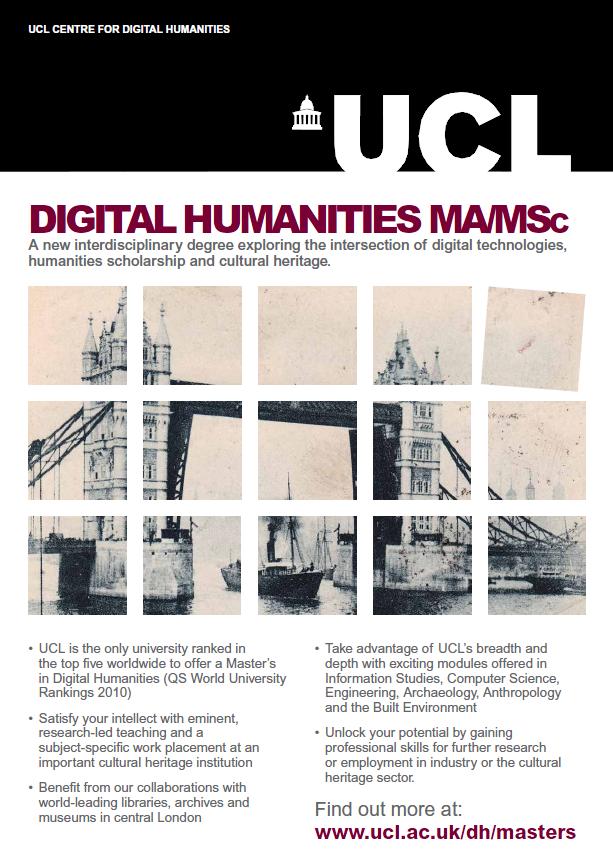Melissa terras 39 blog new ma msc in digital humanities for Window design jobs london