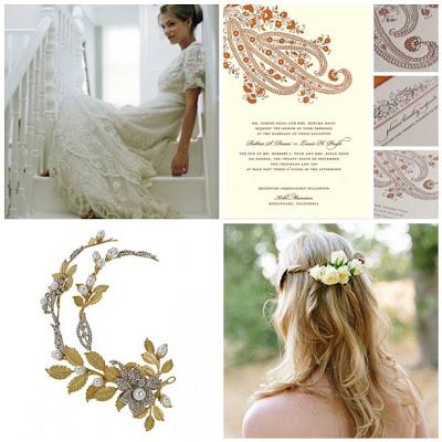 Wedding on All Things Wedding  Bohemian Beauty