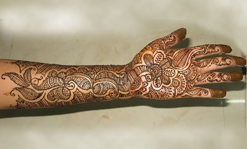 Mehndi For Thin Hands : Mehndi designs for hands