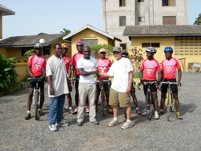 Ed Stein & the Ghanaian bike team