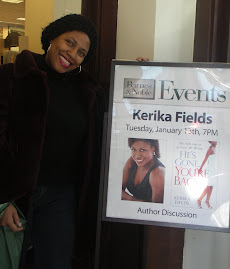 Kerika  with her poster at Barnes and Noble