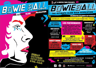 flyer for bowie ball