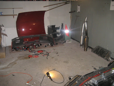 Pile of car parts left to install after rebuild