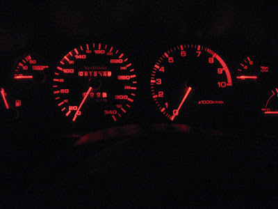 Upgraded instrument cluster speedometer
