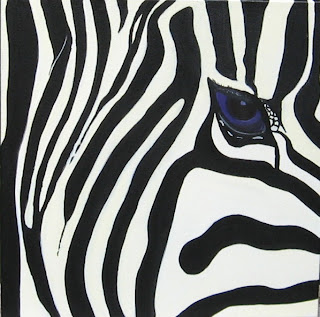 Zebra Faces http://vicarioustherapy.blogspot.com/2008/08/my-zebra-paintings.html