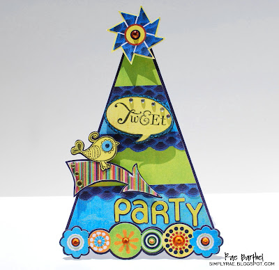 Raes Tweet Party Card won BasicGreys Fifth Anniversary Challenge!