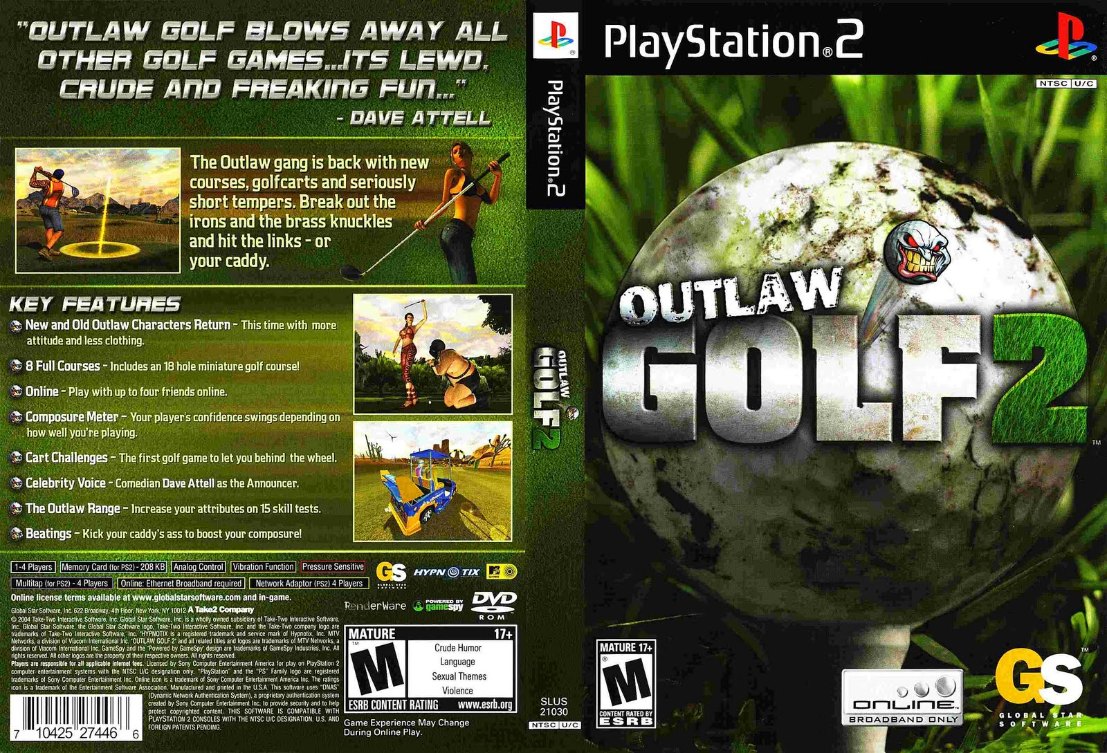 Outlaw golf 2 girls nude exploited pics