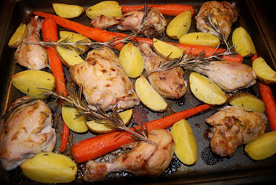 Mustard Rosemary Chicken with Carrots & Potatoes - Macaroni and ...