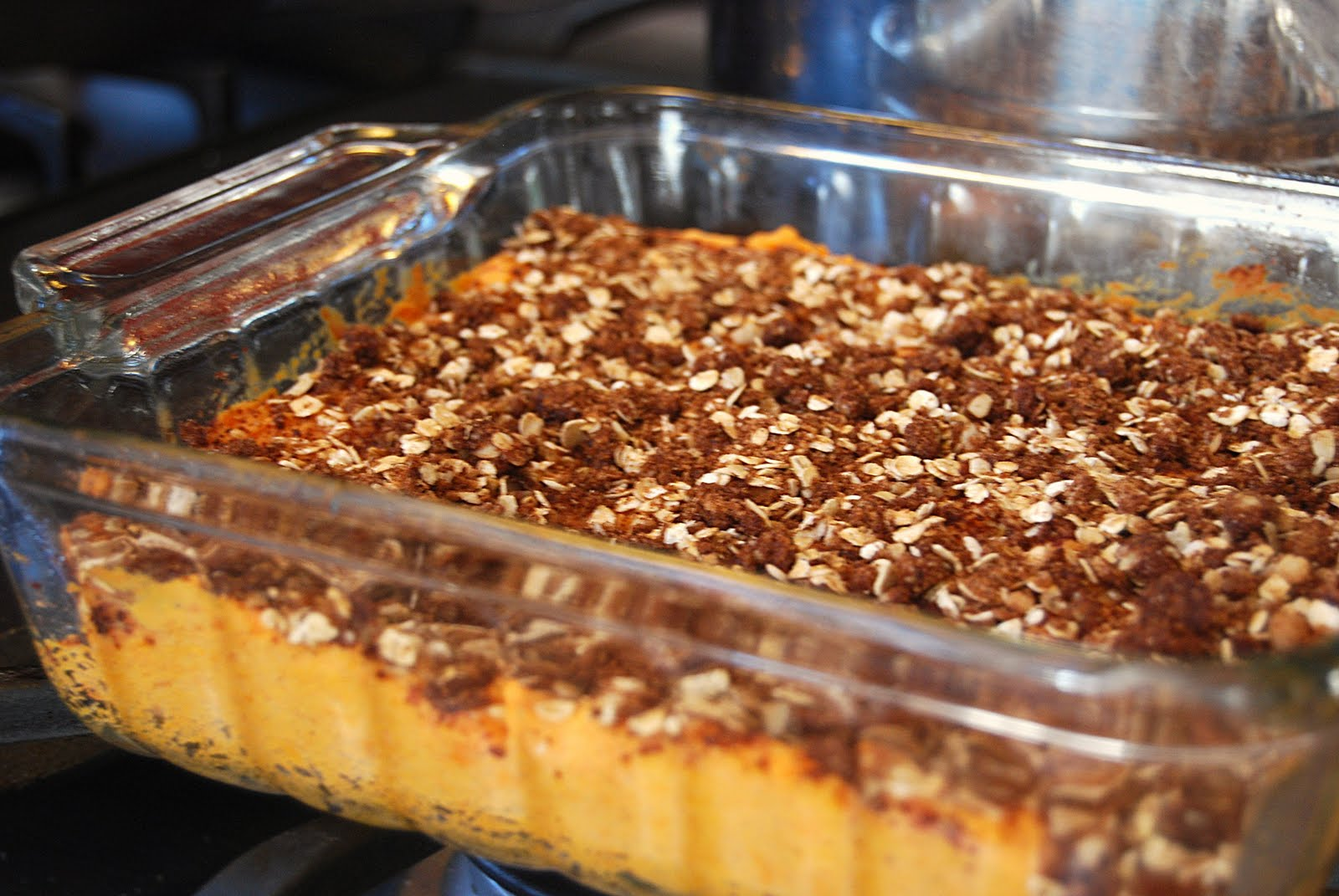 Lightened Up Sweet Potato Casserole - Macaroni and Cheesecake