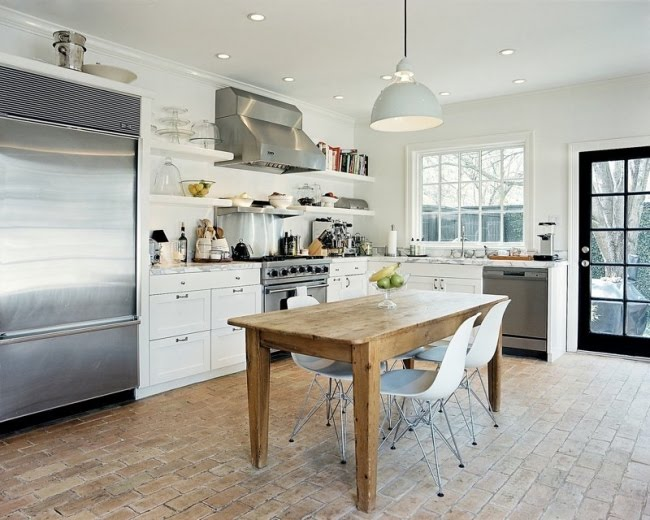 Farmhouse Brick Flooring Tile : Whitehaven kitchens with brick floors