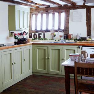 Whitehaven: Kitchens with Brick Floors