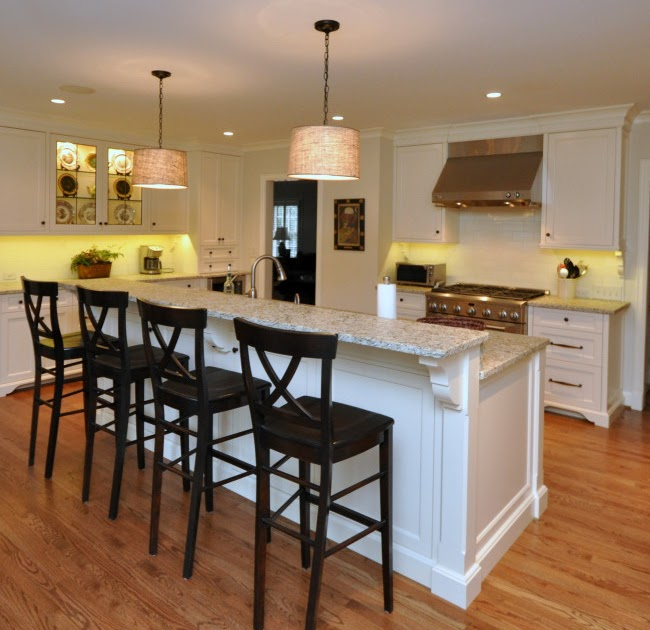 Kitchen Island Two Tier: Whitehaven: Kitchen Before And After