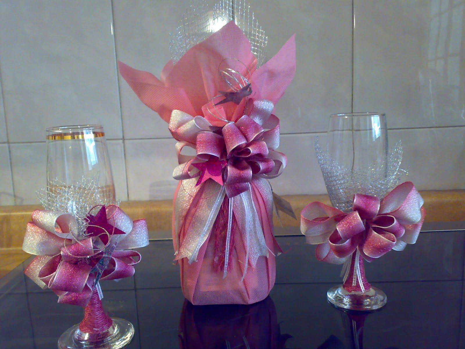 Creaciones luzma botellas decoradas for Sillas para quinceaneras decoradas