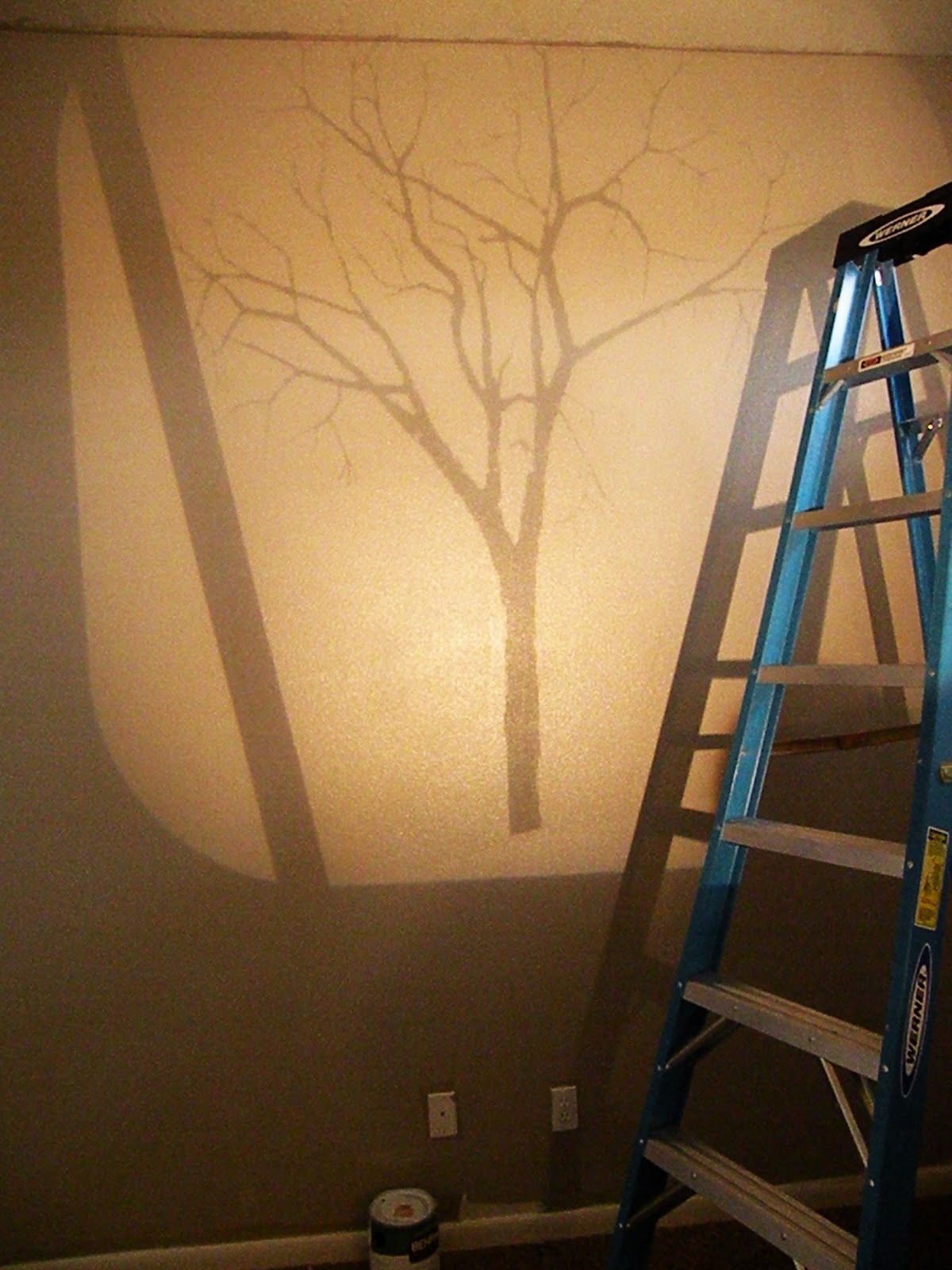 Tree mural tutorial vintage revivals for Diy photo wall mural