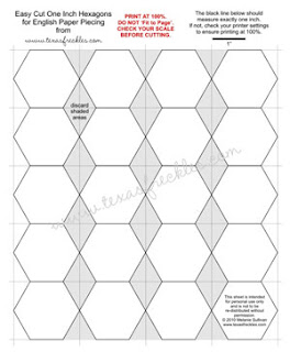 Texas freckles downloads and patterns for Hexagon templates for quilting free