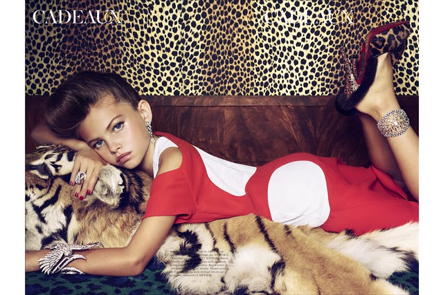 Too young to model? 6-year old models in French VOGUE