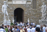 Davidin kopio Firenzen Piazza della Signorialla
