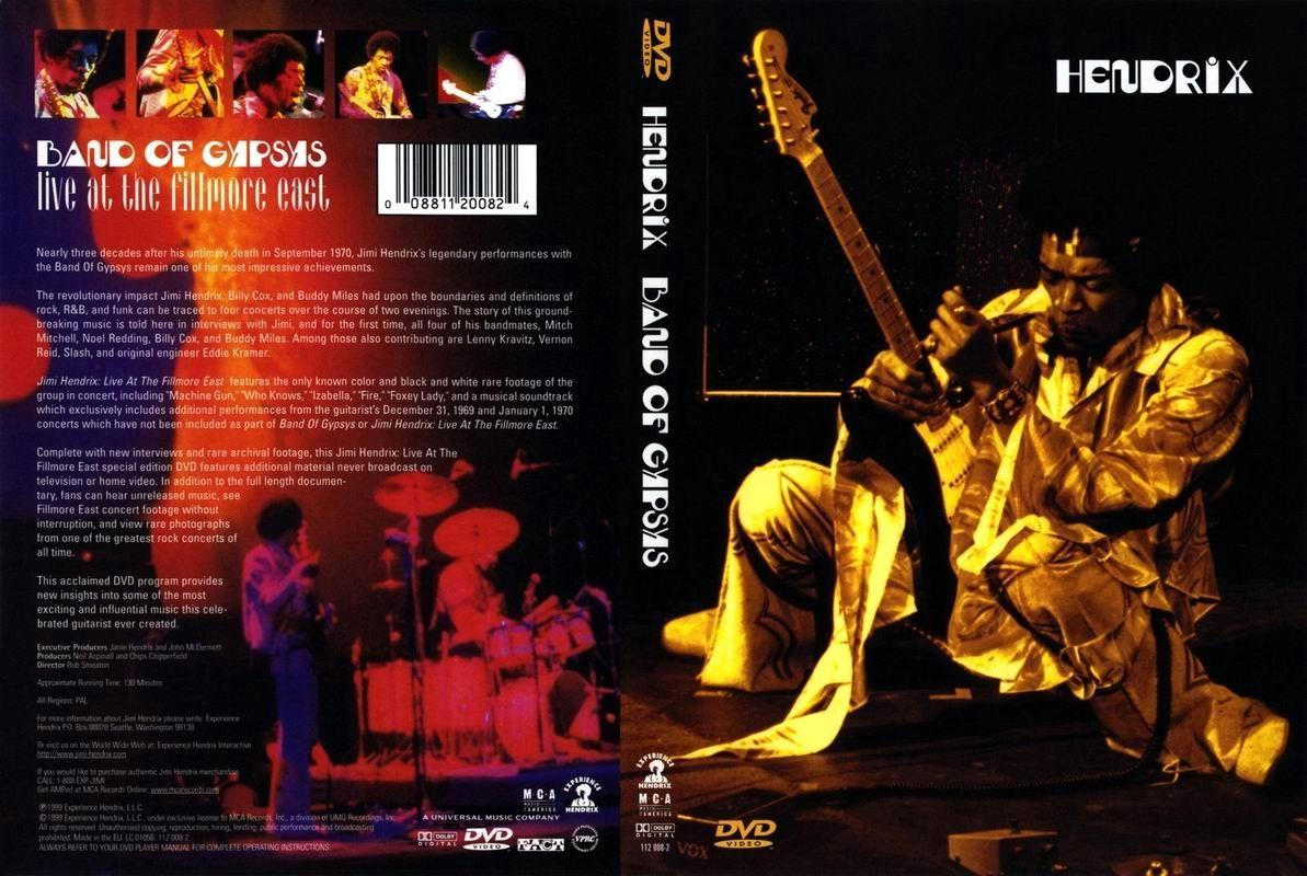 Classic Dvd Jimi Hendrix Band Of Gypsys