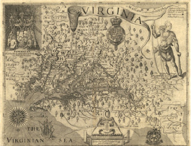 John Smith's Map of Virginia (1612)
