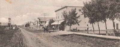St. Vincent main street looking west, 1918