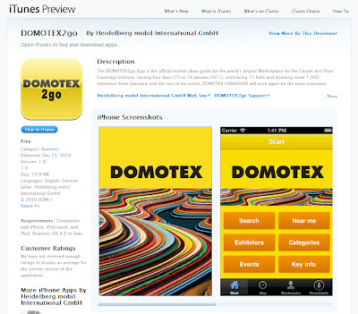 DOMOTEX2go app