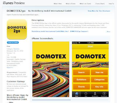 DOMOTEX2go app