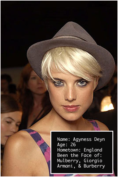 agyness deyn hair. Agyness Deyn is a hot,