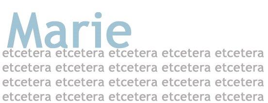 Marie Etcetera