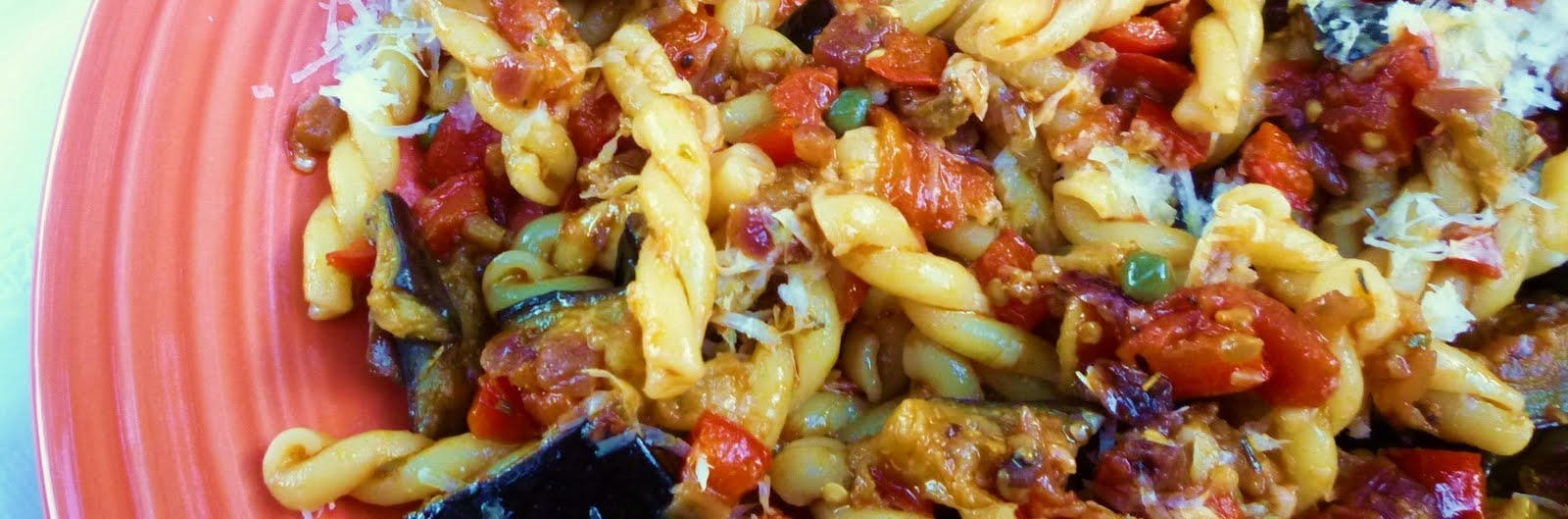 For Love of the Table: Pasta with Eggplant, Peppers, Olives & Capers