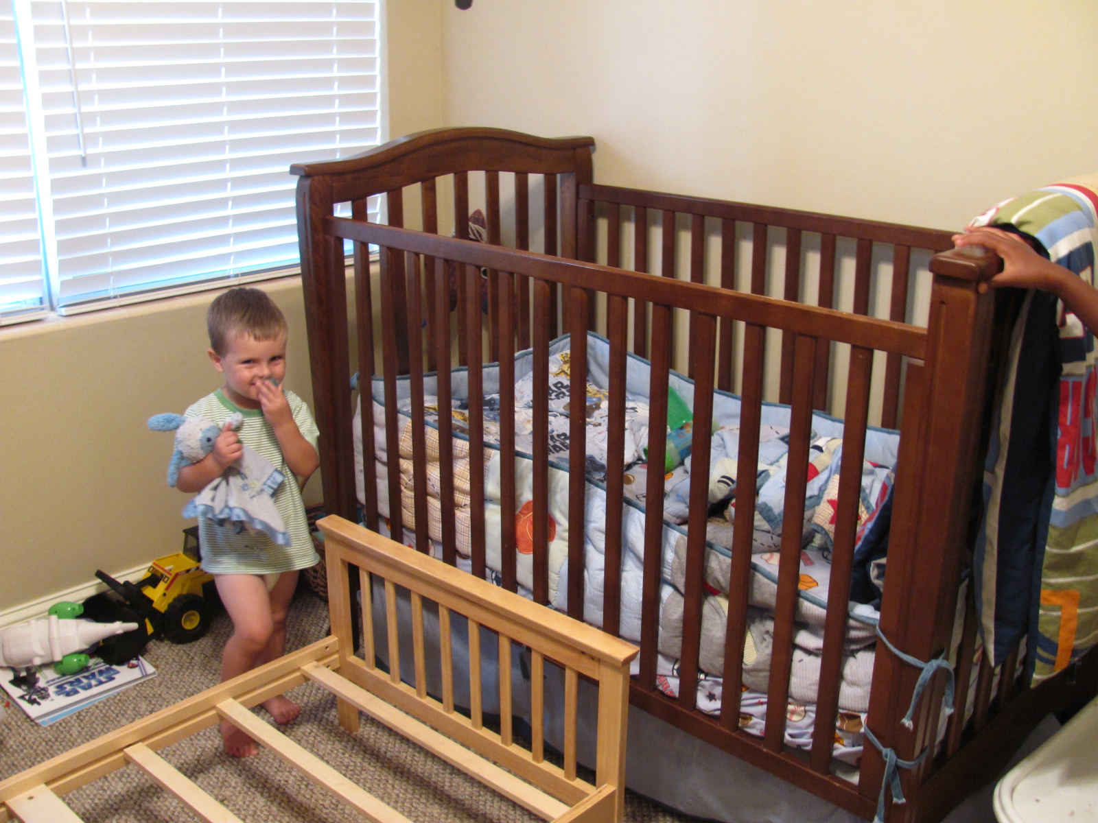 Baby bed for 2 year old - Getting The New Bed Set Up