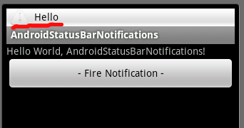 Status Bar Notification