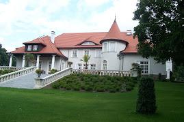 Pałac od strony jeziorka i łąk