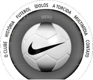 Menu em formato de bola de futebol