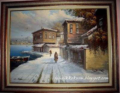Annemin yağlı boya tablosu