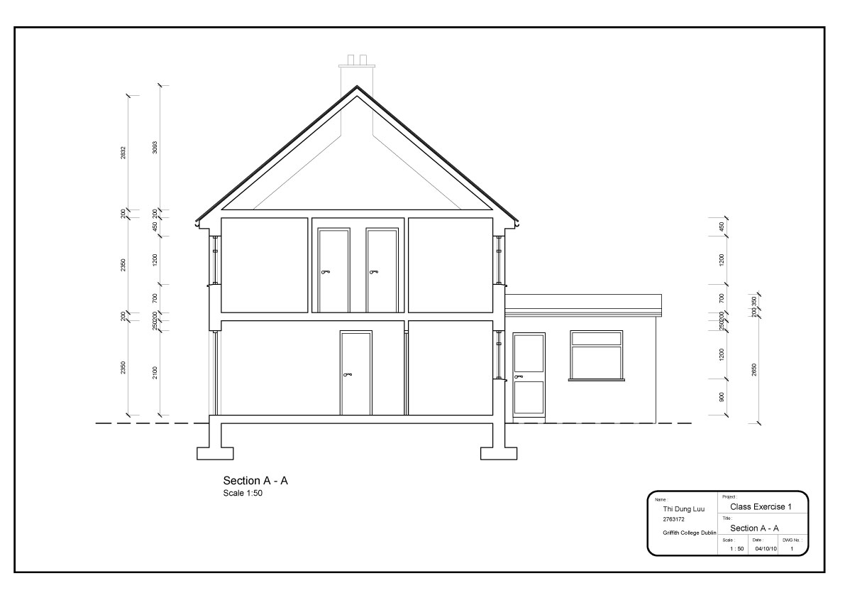 Plan elevation and section of a simple house joy studio for Simple home elevation design