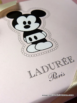 Close Up of Ladurée Mickey Mouse Macaroon Box