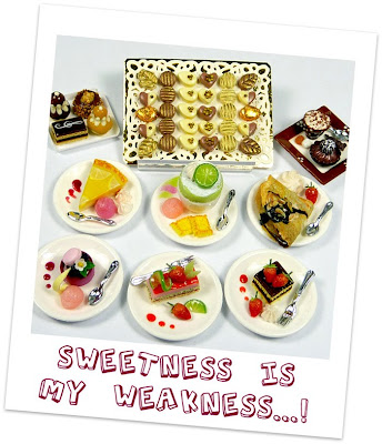 12th scale miniature desserts handmade by Emmaflam at Paris Miniatures