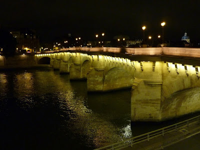 The Pont Neuf bridge at night