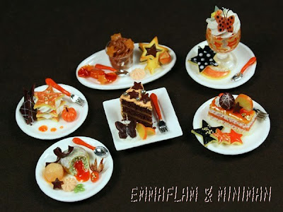 Halloween Desserts in Miniature by Emmaflam & Miniman at Paris Miniatures
