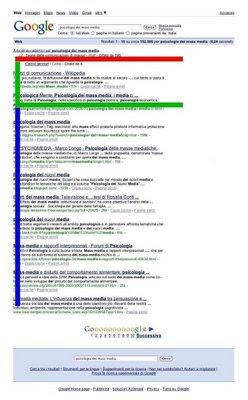 psicologia dei nuovi media, lettura di una pagina web, movimenti oculari nella lettura, schema ad F, pagina web, SERP, schema di lettura,