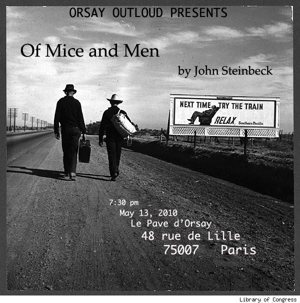 the major themes in john steinbecks of mice and men John steinbeck and woody guthrie were perhaps the two most famous chroniclers of the great depression steinbeck's trilogy of novels portraying the struggle of migrant workers in california is the most enduring literary chronicle of the great depression: in dubious battle (1936), of mice and men (1937), and the grapes of wrath (1940.