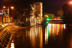 Night View At Malacca River