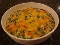 Simple Crustless Quiche - Fresh from the Oven
