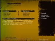 template128 tattooPattern vector 44 Free CSS Templates