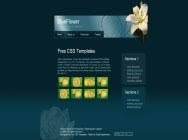 template129 BlueFlower vector 44 Free CSS Templates