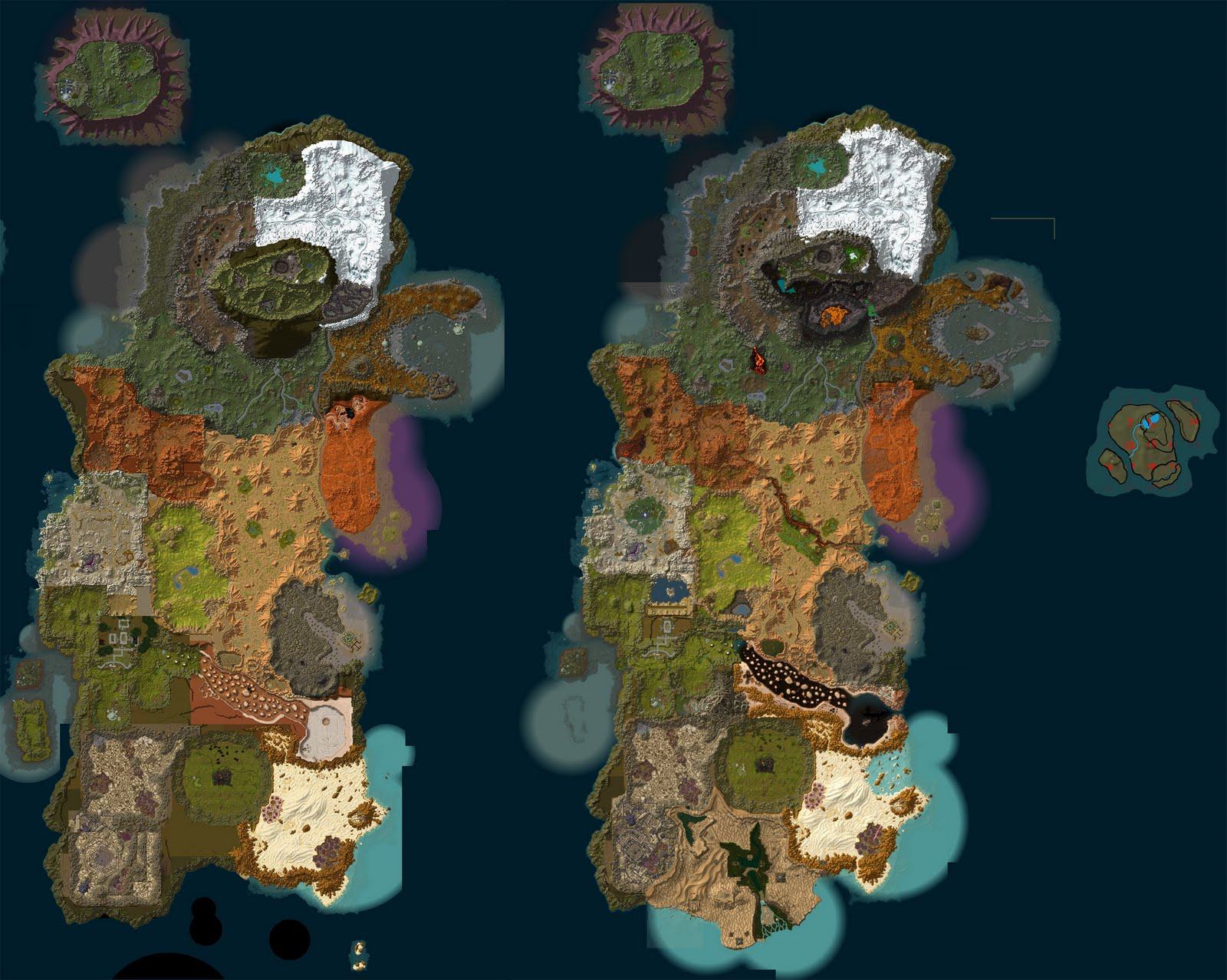 Cataclysm maps kalimdor old and new comparison kalimdor old and new comparison gumiabroncs Images