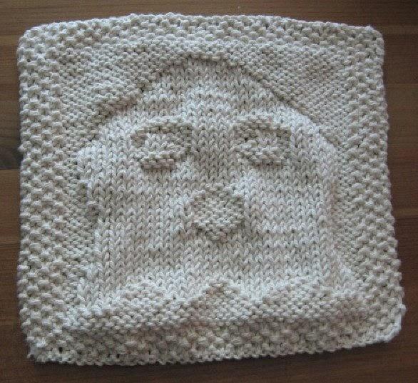 Knitted Basket Weave Dishcloth Pattern : My Knitting Basket: ghosty dishcloth